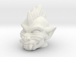 Slobgoblin / Punk Baboon Head (Multisize) in White Natural Versatile Plastic: Medium