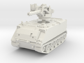 M163 A1 Vulcan late (no skirts) 1/87 in White Natural Versatile Plastic