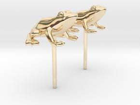 Frog Earrings in 14k Gold Plated Brass