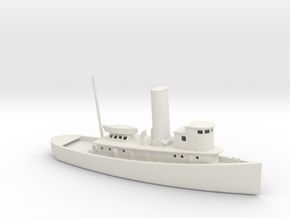 1/350 Scale 100 foot wooden harbor tug Retriever in White Natural Versatile Plastic