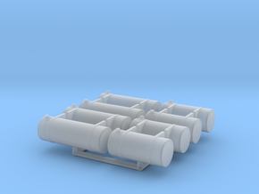 Semi Truck Fuel Tanks, Medium and Large in Smooth Fine Detail Plastic