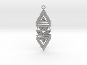 Geometrical pendant no.19 in Aluminum: Medium