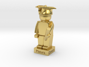 Minifig Statue for Matura in Polished Brass