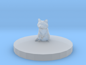 Raccoon Miniature (28mm Scale) with Base Plate in Smooth Fine Detail Plastic