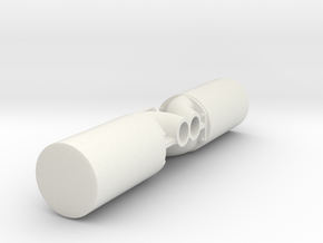 1/16 M4a2 exhaust. in White Natural Versatile Plastic