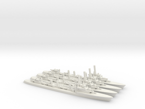 French Guepard-class Destroyer (x4) in White Natural Versatile Plastic