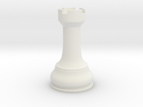 Chess Piece - Single Rook in White Natural Versatile Plastic