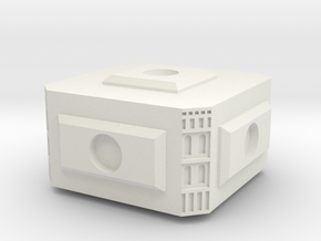 Modular Space Station Small Core Module in White Natural Versatile Plastic