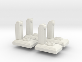 Small Dock V1 x 4 in White Natural Versatile Plastic