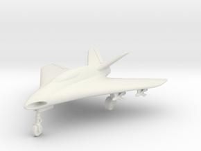 (1:144) Lippisch P.15 Entwurf 1 V-tail in White Natural Versatile Plastic