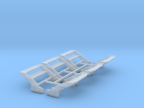 Set of 6 - RWB Rotana Wings for HW Casting in Smooth Fine Detail Plastic