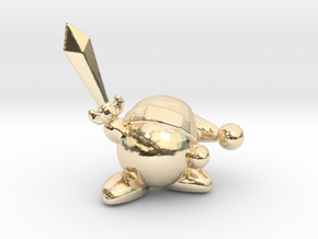 Kirby with Sword 1/60 miniature for games and rpg in 14K Yellow Gold
