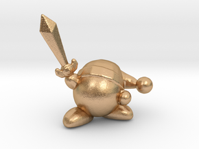 Kirby with Sword 1/60 miniature for games and rpg in Natural Bronze
