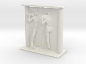 Printle Visions Mirror - F001 - 1/24 in White Natural Versatile Plastic