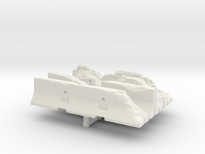 Damaged Jersey barrier (x4) 1/76 in White Natural Versatile Plastic