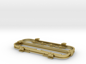 7mm Army Flat Wagon in Natural Brass