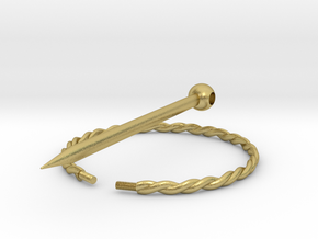 Cloak ring and Pin in Natural Brass