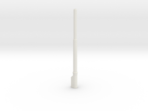 1:22,5 1557 BVL-mast met KIR KIK sokkel enkel in White Natural Versatile Plastic