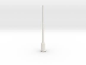 1:22,5 1563 BVL-mast met ronde sokkel en kast in White Natural Versatile Plastic