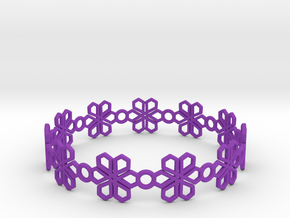 Bracelet in Purple Processed Versatile Plastic