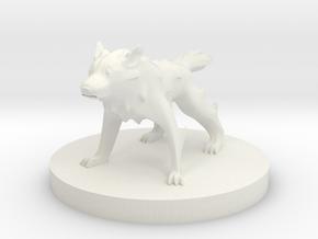 Wolf - Wolf in White Natural Versatile Plastic