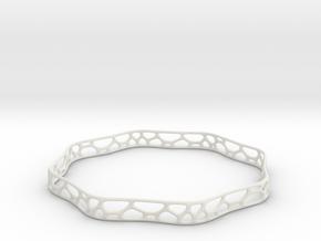 Bracelet in White Natural Versatile Plastic
