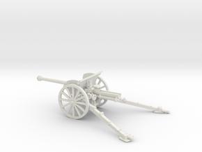 1/56 IJA Type 90 75mm Field Gun (horse drawn) in White Natural Versatile Plastic
