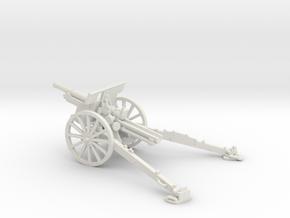 1/56 IJA Type 91 105mm Howitzer in White Natural Versatile Plastic