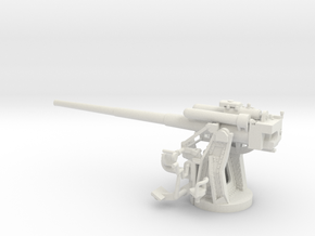 1/56 IJN Type 10 120mm Dual Purpose Gun in White Natural Versatile Plastic