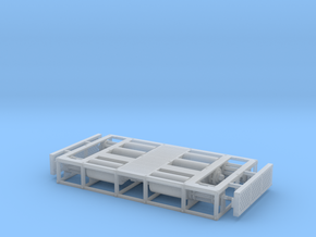 1/87th Dyno Dynamometer Chassis Test Platform in Smooth Fine Detail Plastic