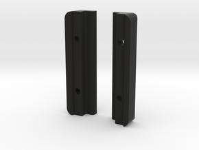 """C&C 25 MastGate rails 2"""" long. in Black Natural Versatile Plastic"""