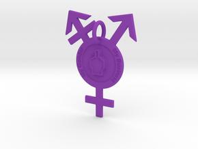 My Gender, My Business in Purple Processed Versatile Plastic