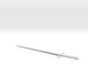 1:6 Miniature Ringwraith Sword - LOTR in White Natural Versatile Plastic