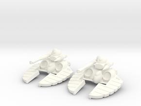 Space Elf - Laser Blaster Turret in White Processed Versatile Plastic