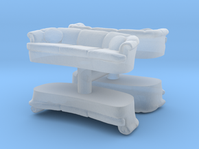 Sofa (4 pieces) 1/144 in Smooth Fine Detail Plastic