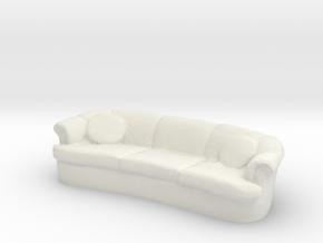 Sofa 1/24 in White Natural Versatile Plastic