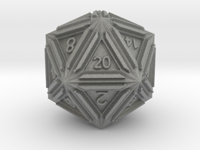 Dice: D20 edition1 in Gray PA12