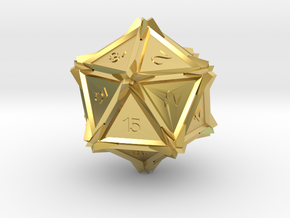 Dice: D20 edition2 in Polished Brass