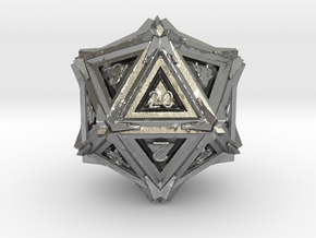 Dice: D20 edition 3 in Natural Silver