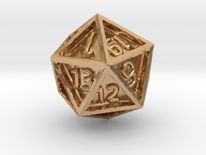 Dice: D20 edition 4 in Polished Bronze