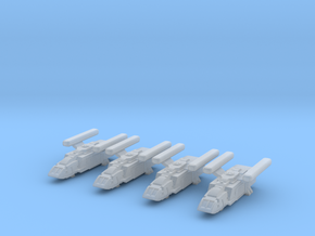1/1000 Scale Scampers M.E.S.H. x4 in Smooth Fine Detail Plastic