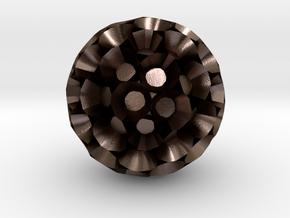 polyh-ntwD in Polished Bronze Steel