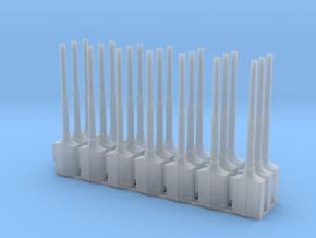 1:87 1590 BVL-mast met voedingssokkel 21x zelfbouw in Smooth Fine Detail Plastic