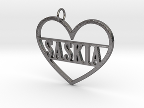 Key Tag with Name in Polished Nickel Steel