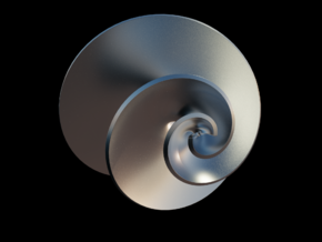 Hyperhelecoidal in Fine Detail Polished Silver