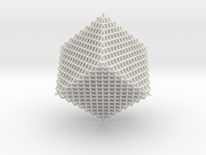 4096 Tetrahedron Grid in White Natural Versatile Plastic