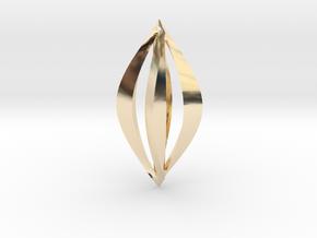 Geometric Earrings in 14k Gold Plated Brass