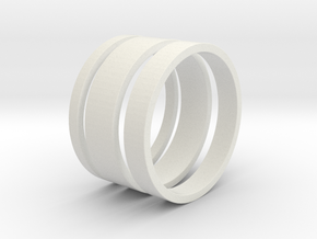 Nichole Ring Set in White Natural Versatile Plastic