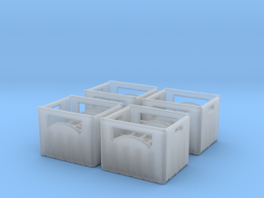 Bottle crate (4 pieces) 1/87 in Smoothest Fine Detail Plastic