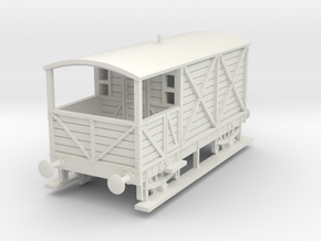 a-76-gwr-kesr-1886-brake-van in White Natural Versatile Plastic
